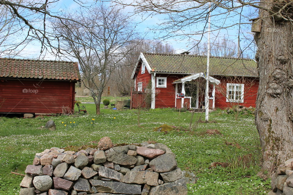 Swedish red & white cottage