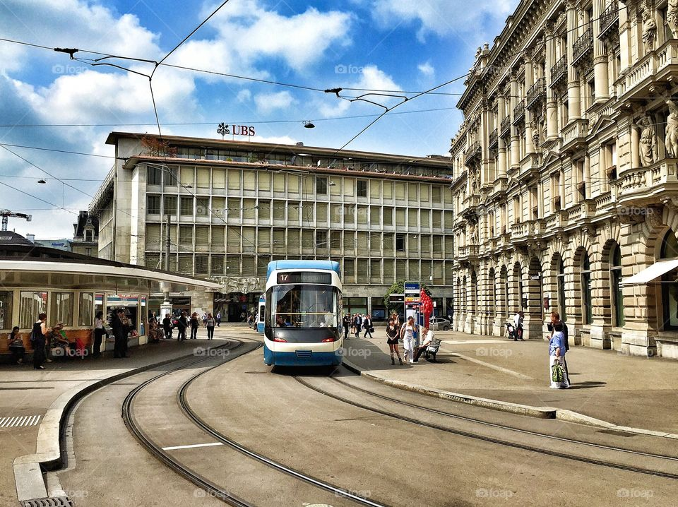 Paradeplatz, Zürich . Zürich Financial District