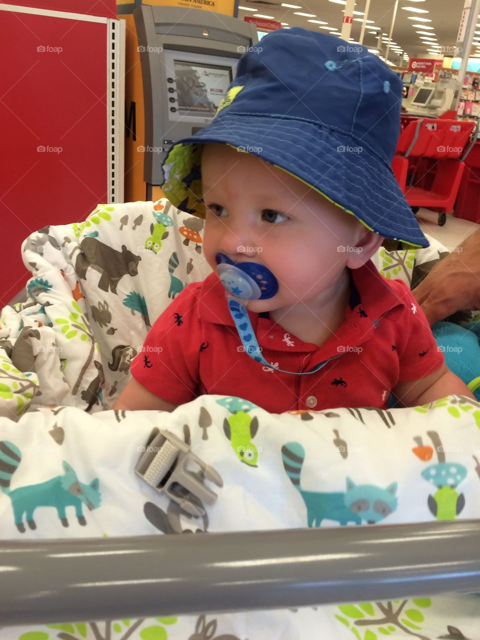Baby at the supermarket
