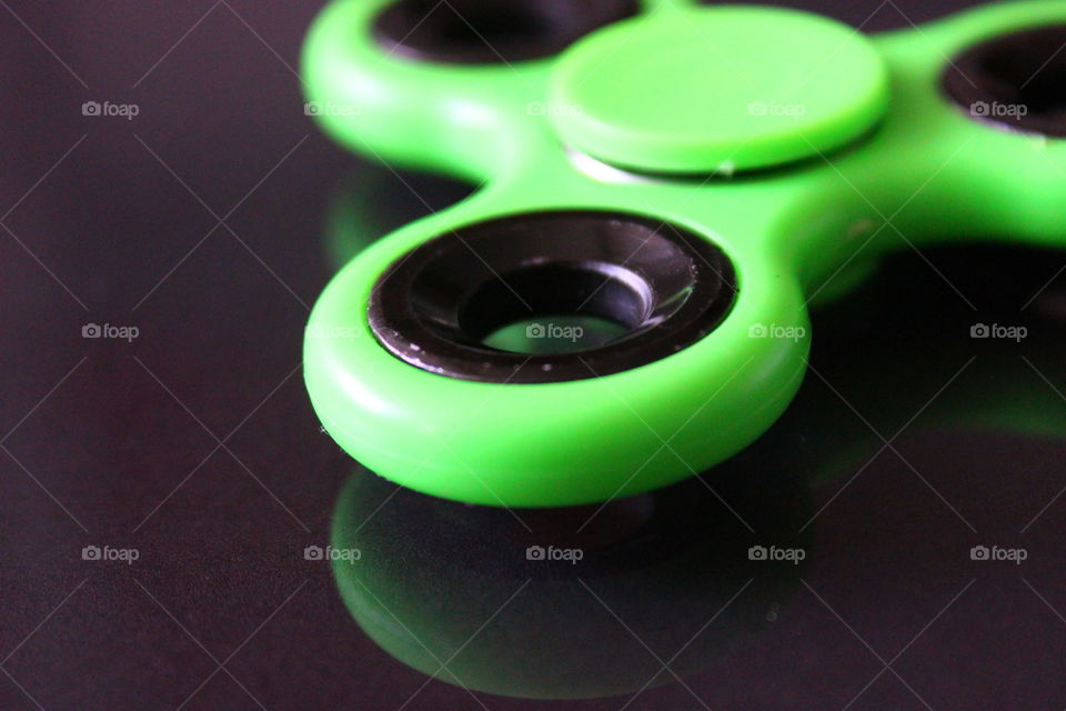 Close-up of spinner