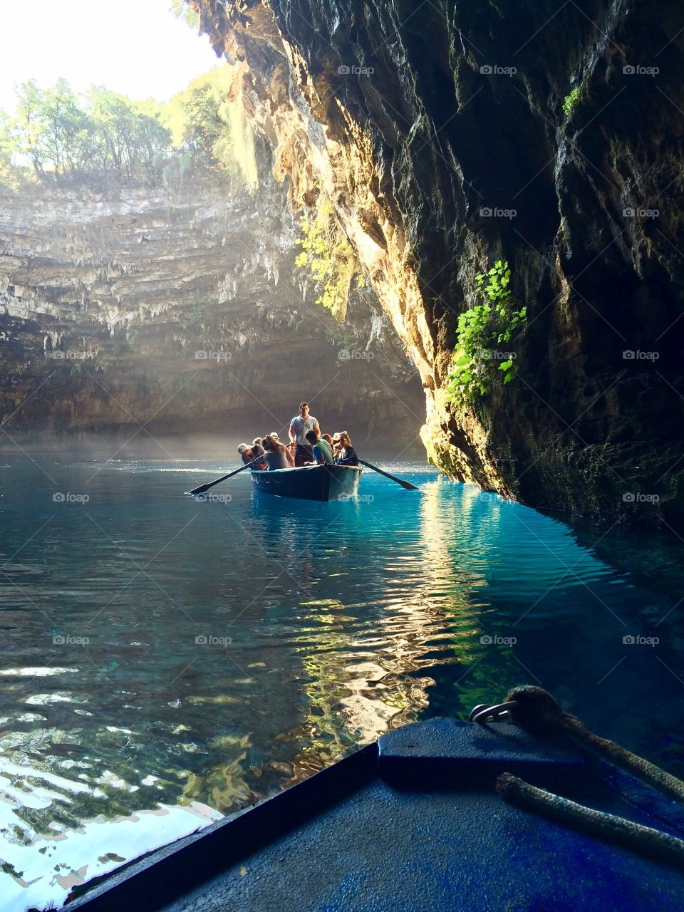 Blue glimpses in Melissani Cave Kefalonia