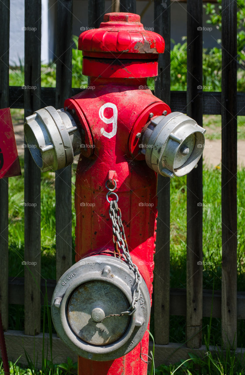 red fire hydrant. red fire hydrant