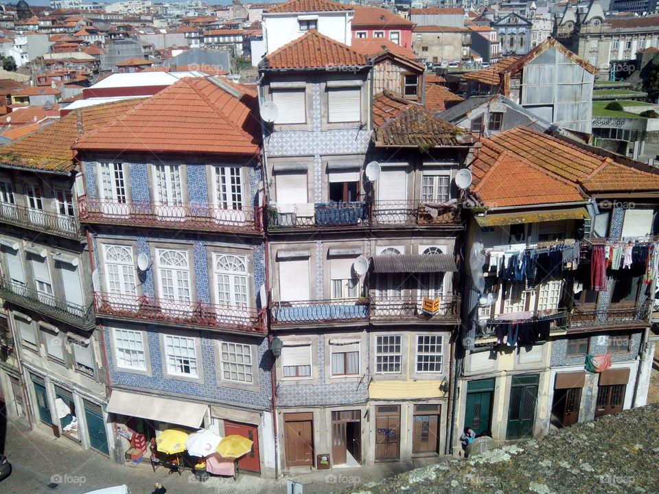 porto. casas tipicas da baixa portuense
