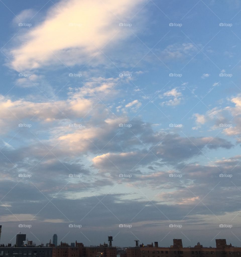 Friday sky. NYC sky Friday evening! On a peaceful day for all!