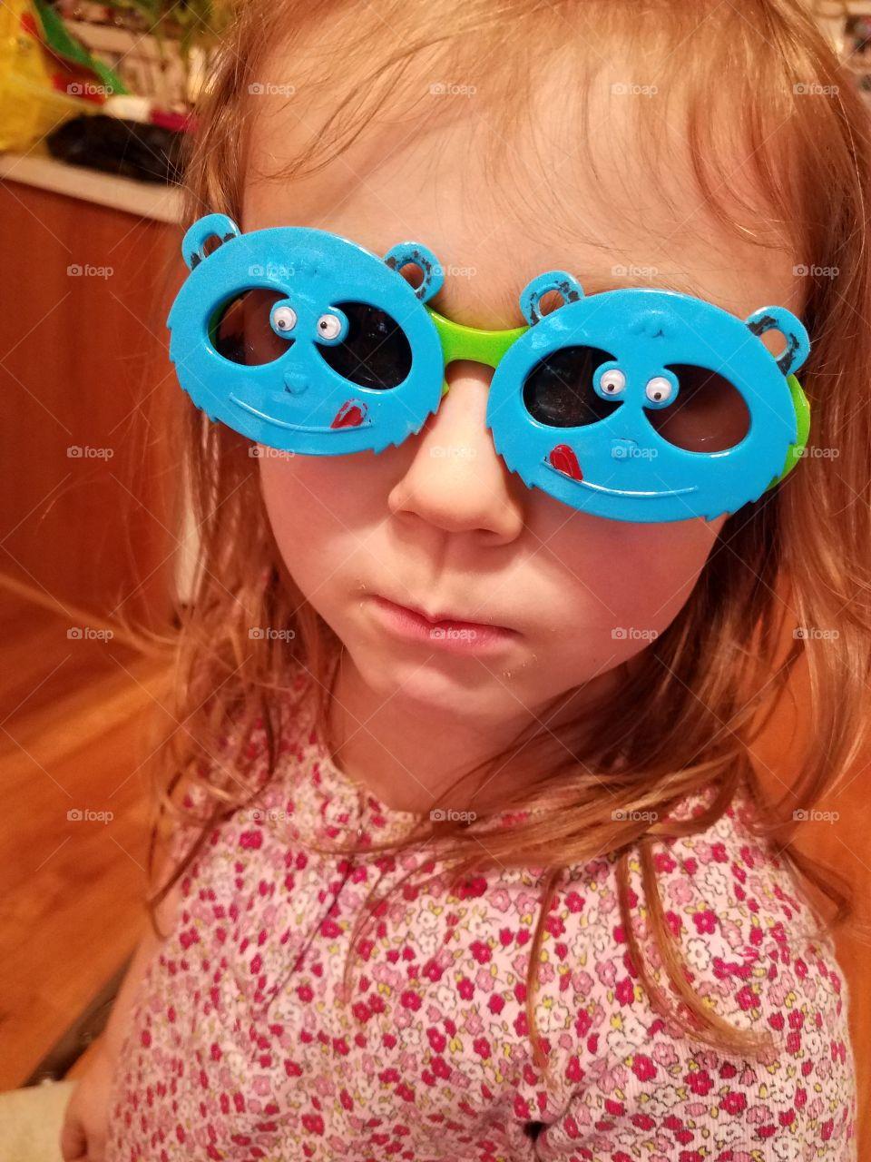Portrait of girl wearing eyeglasses