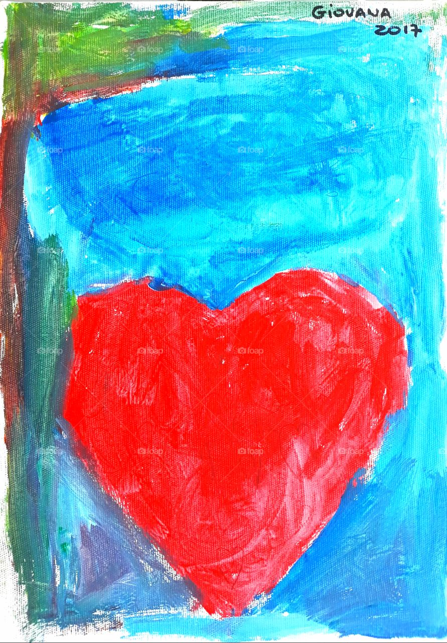 Painting made by Giovana, 5 years old, to give her mother on Mother's Day.