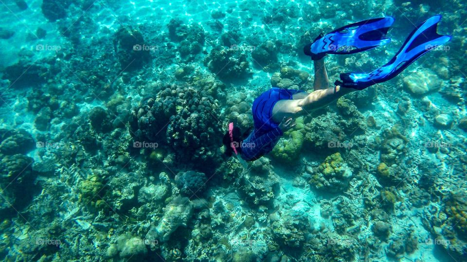 When I first travel Palawan, I didn't know how to swim or free dive properly. The life underwater made me learn how to free dive. I took a feee diving lesson! And here I am! Back at Palawan diving. I'm the happiest!