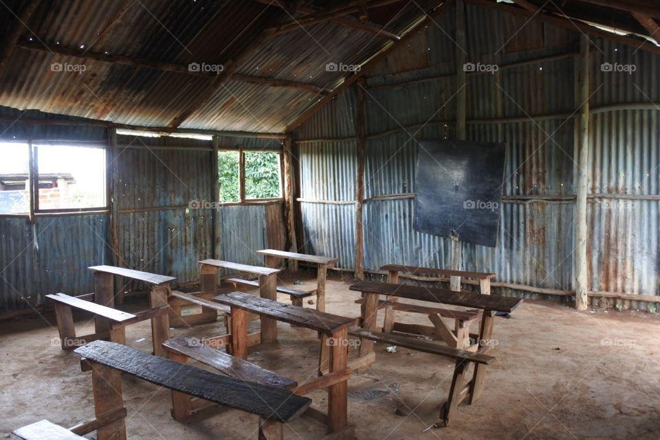 Africa school room . Classroom