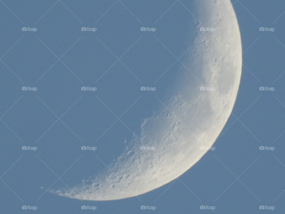 Daytime waxing crescent