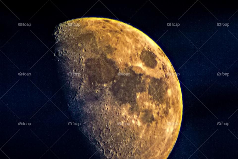 The Moon through a telescope
