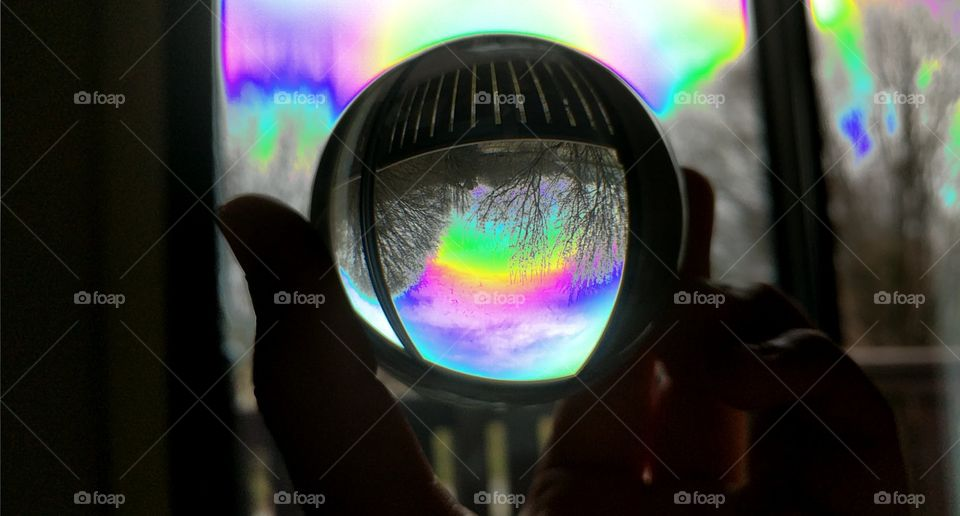 Photography Crystal Ball and Psychedelic Effect