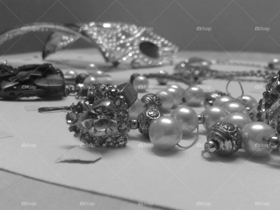 Jewellery. All the jewellery pieces in this photo are either broken or cannot be used, but look at how amazing the picture is :)