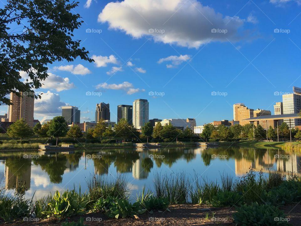 Nature meets city. Railroad Park in Birmingham, AL