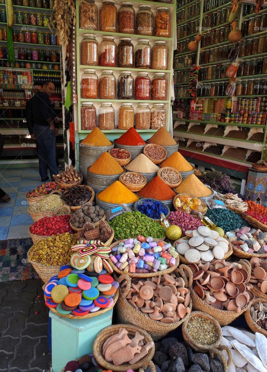 Spices in multicolor