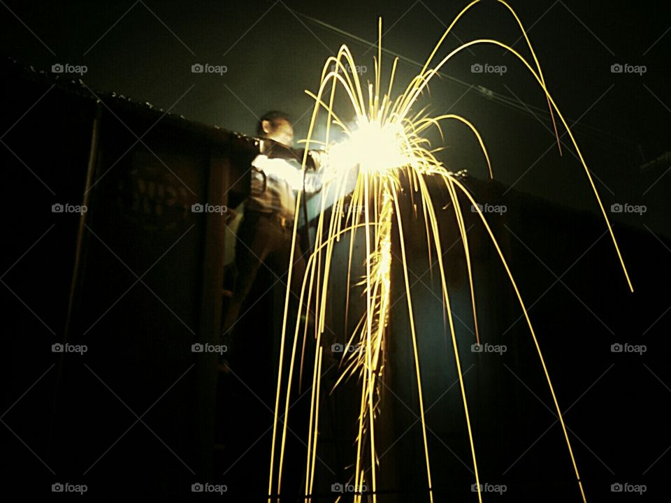 welding work in night shift