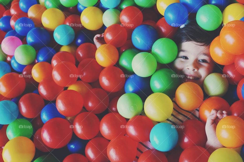 Riley loves the ball pit!
