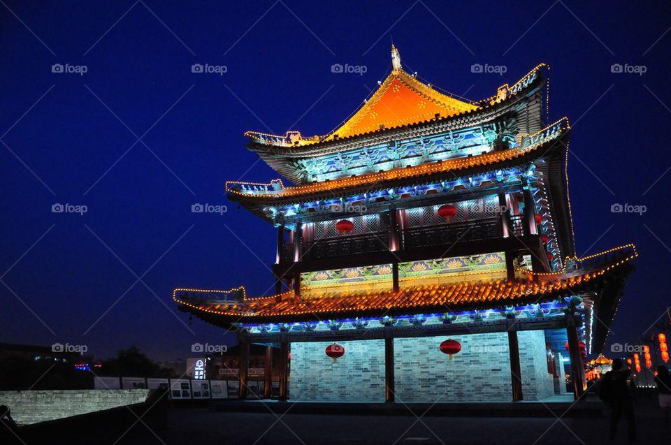 Xian wall tower