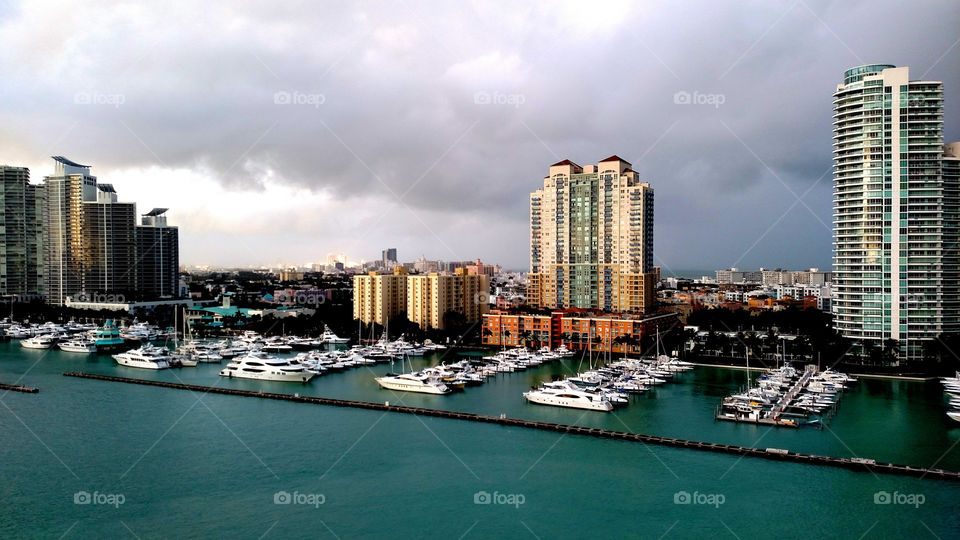 View of miami yacht club