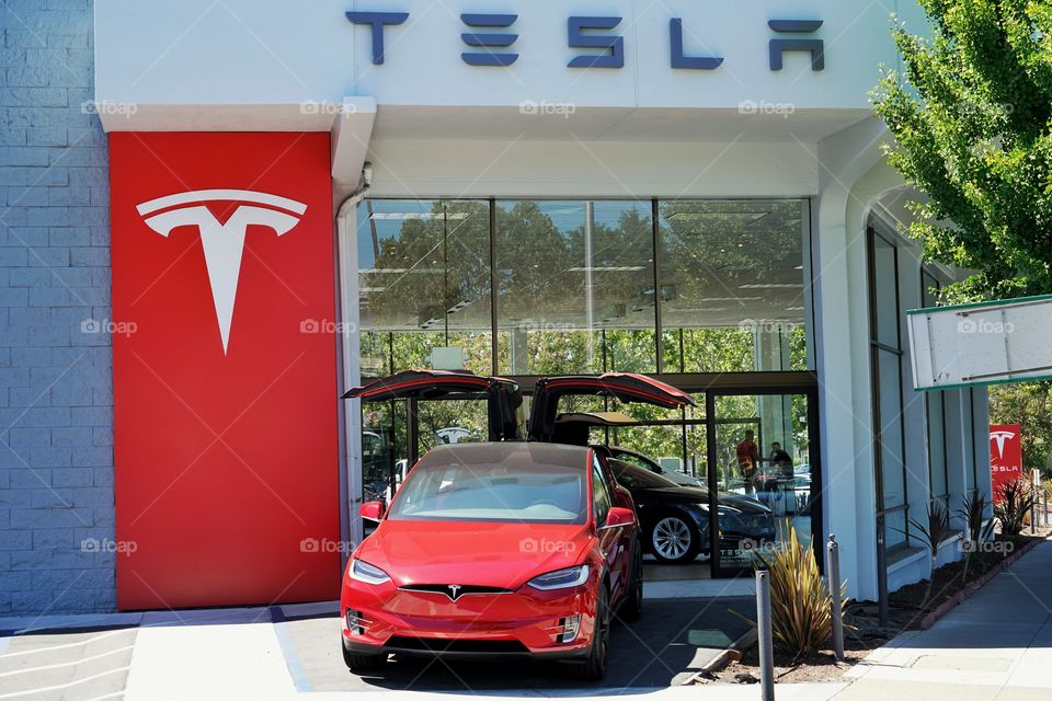 Tesla Model X At Silicon Valley Dealership
