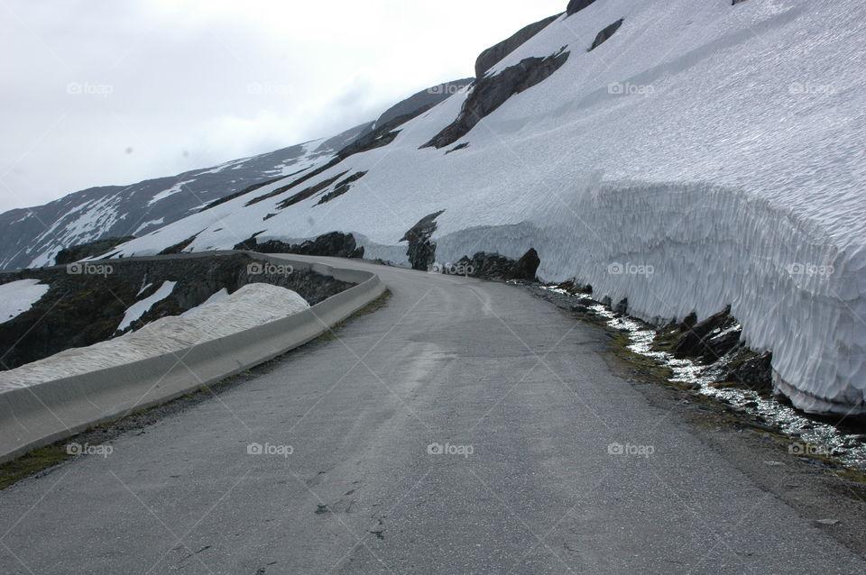 Road in between ice