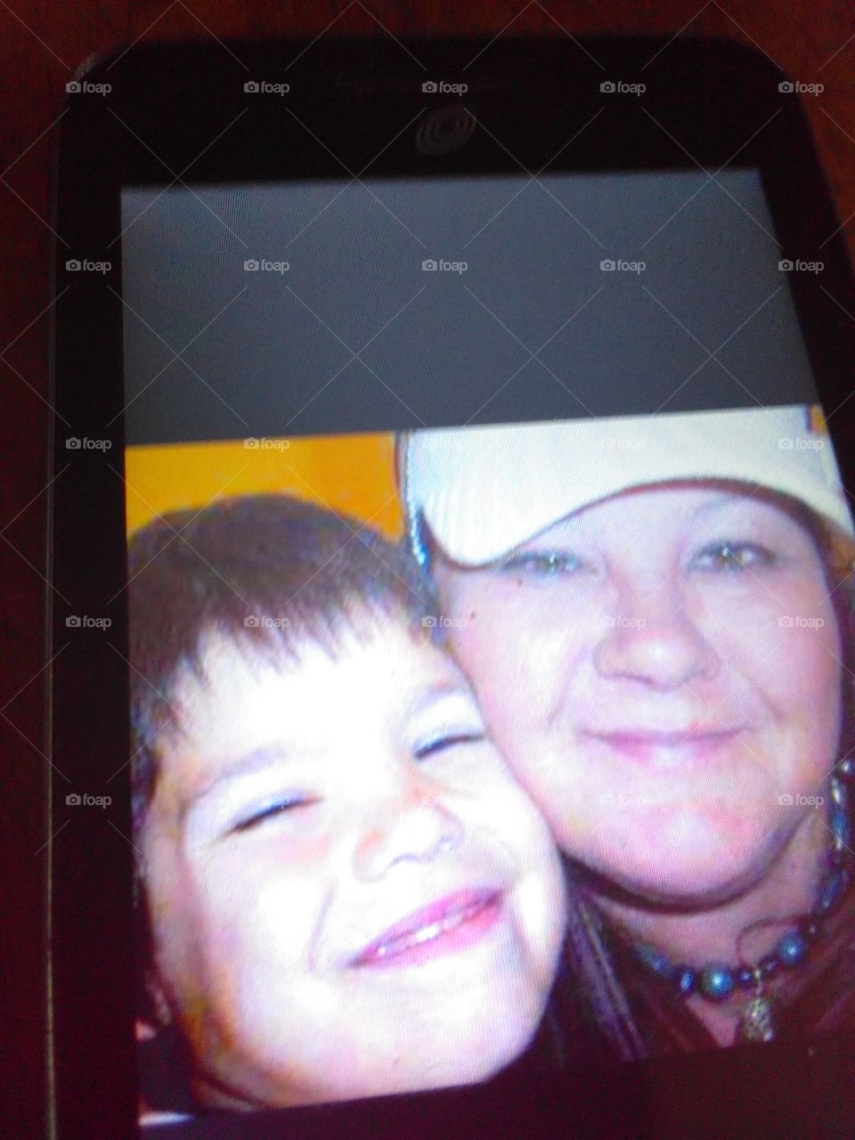my beautiful sister and her grandson she is no longer with us