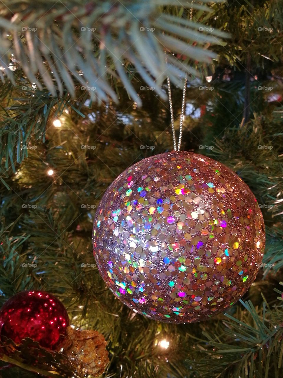 Glitter Ball Ornament