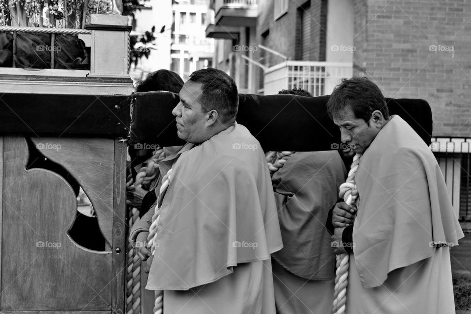 Peruvian religious ceremony, immaculate virgin of the door Qtuxo