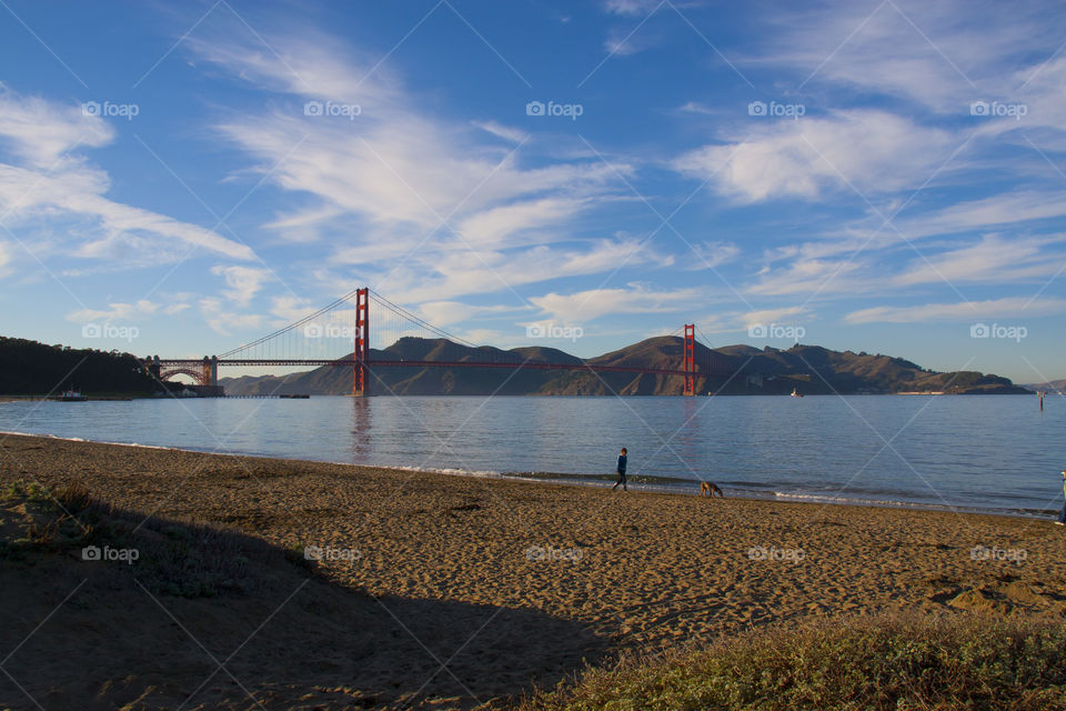 SUNSET AT THE GOLDEN GATE BRIDGE SAN FRANCISCO CALIFORNIA USA