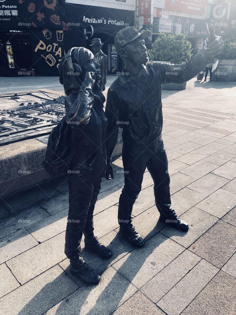 U shot I shot #sefie #selfie #taipei #taiwan #2018 #環島 #單車環島 #sony6500 #台灣 #西門町 #couple #自拍 #xiementingtaipei