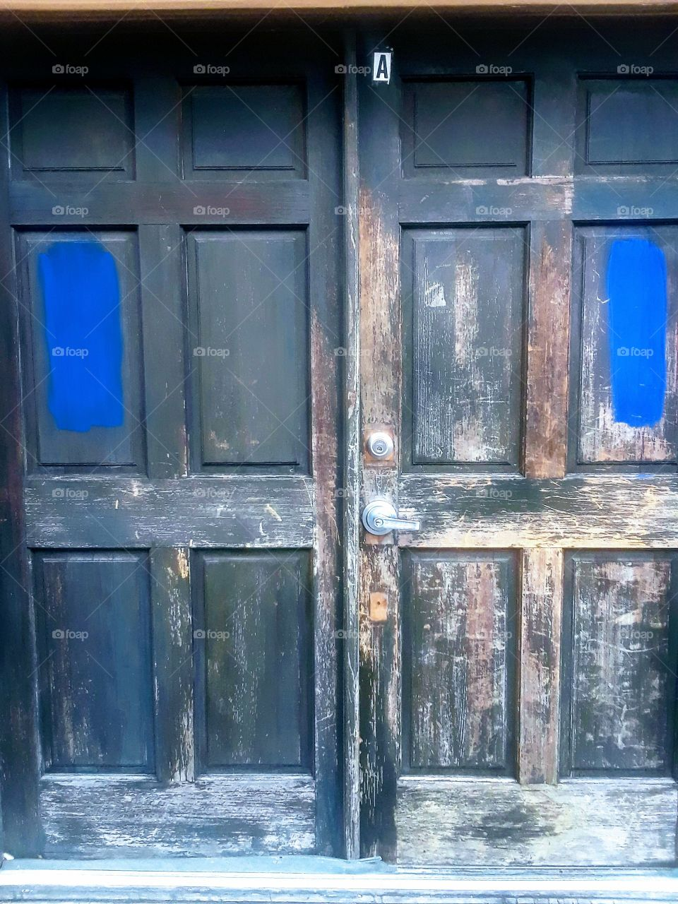 old faded wooden doors
