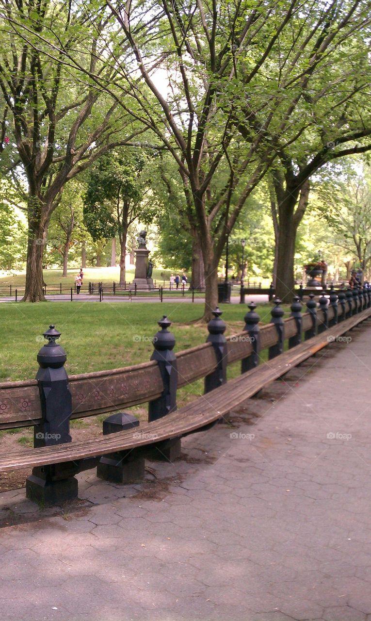 Foap Com Central Park Bench Stock Photo By Grivnac