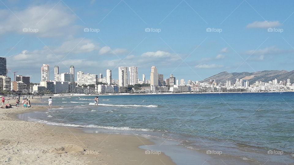 City beside the sea