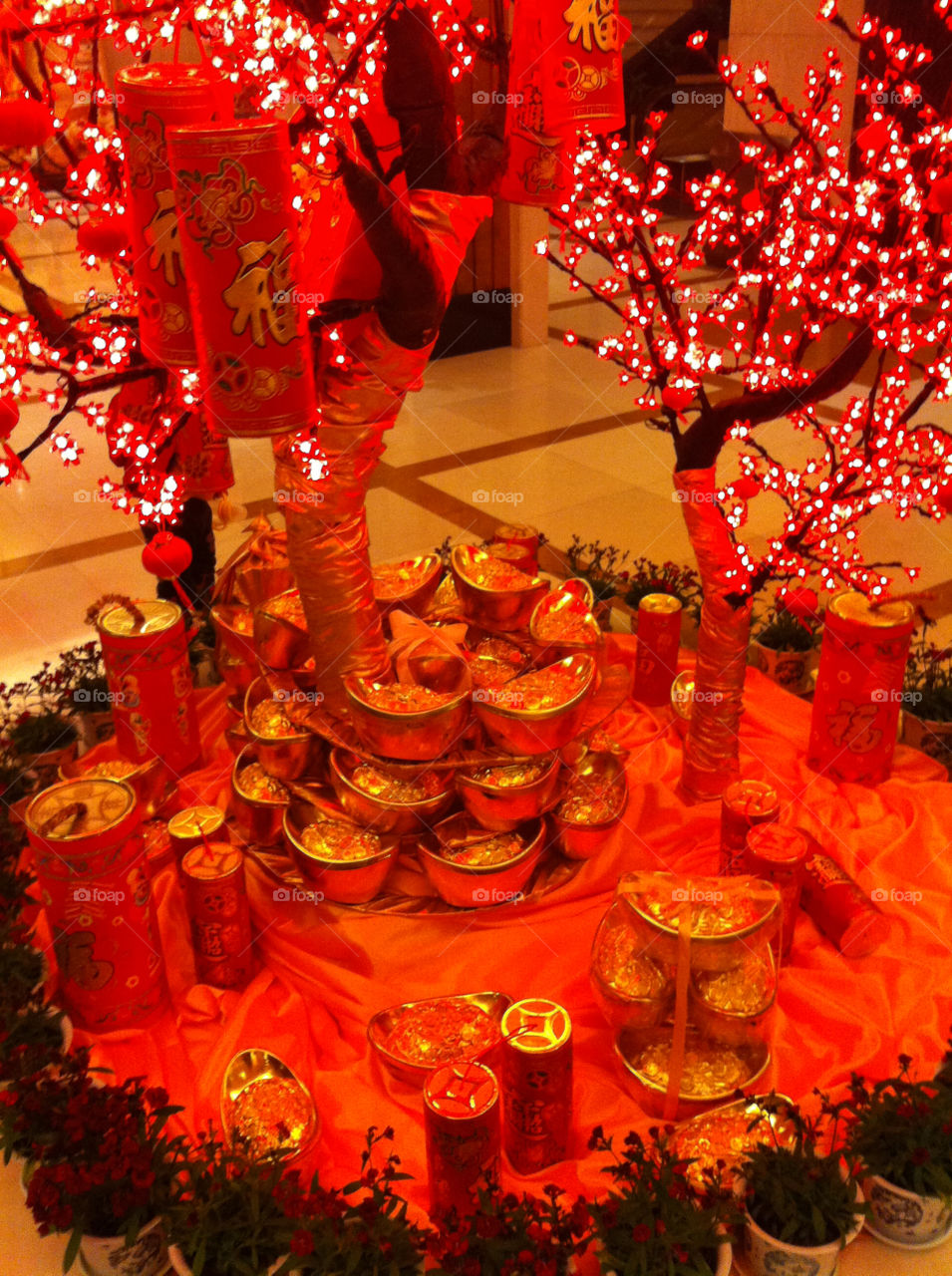 A display ushering in the Chinese New Year.