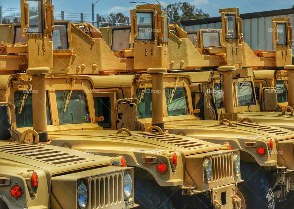 U.S. Military Humvee vehicle