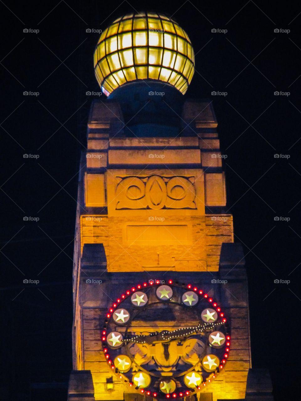 Close-up of clock tower