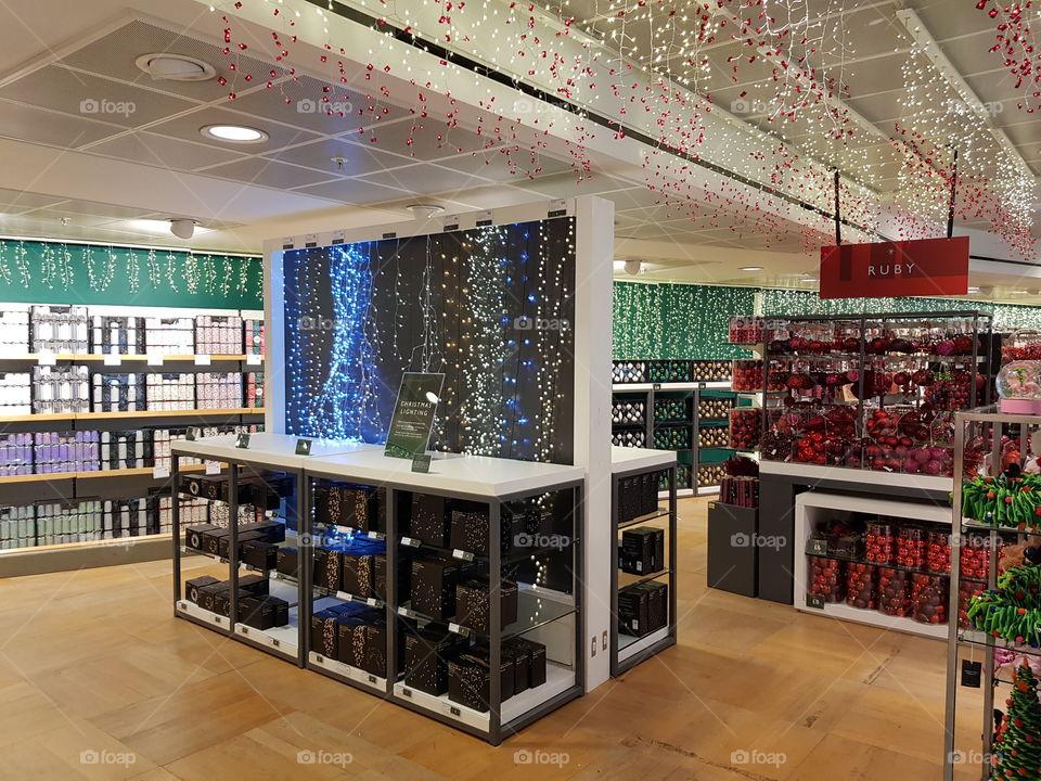 Peter Jones department store Christmas lights decorations Sloane square Chelsea Kings road London