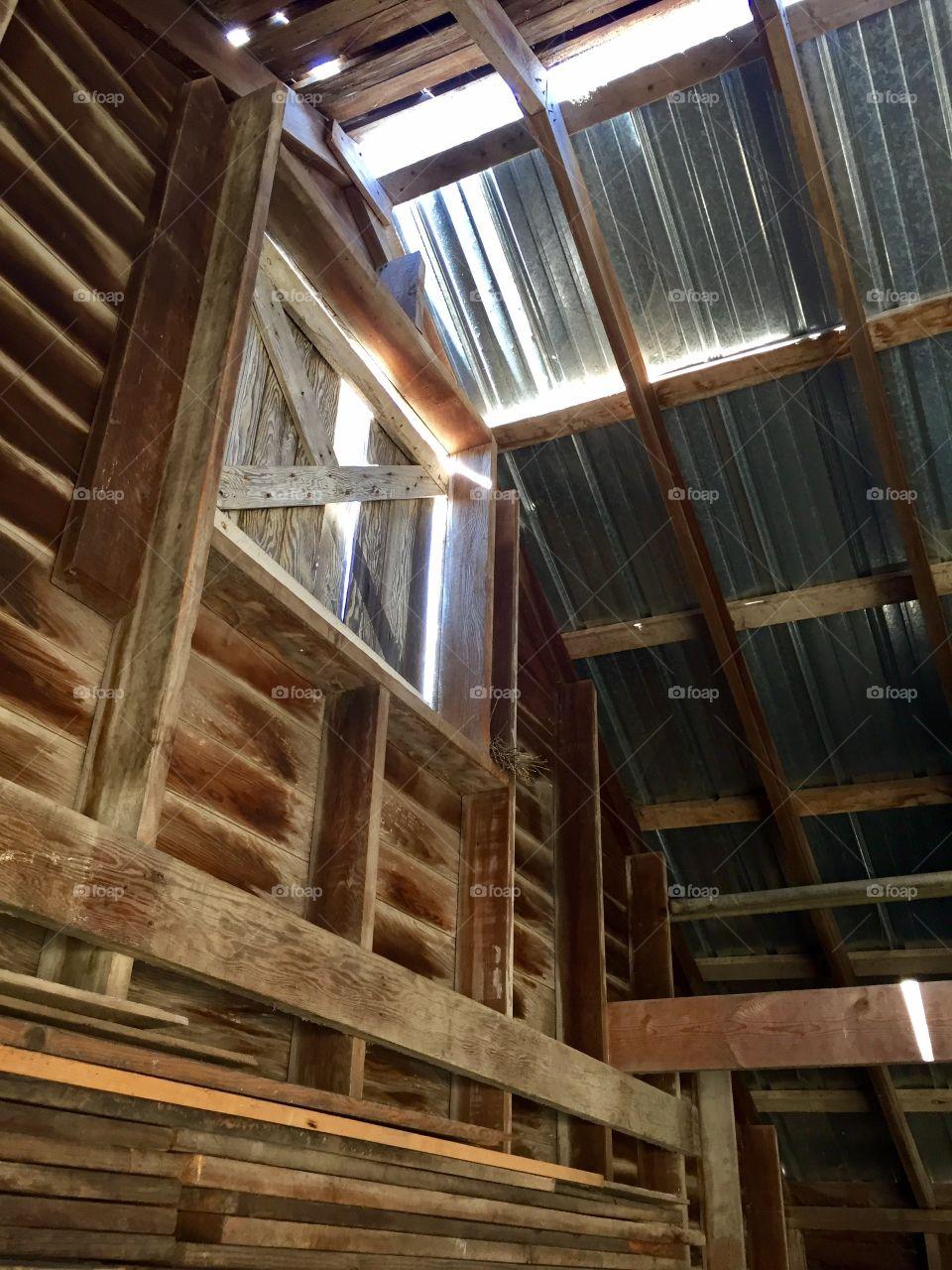 Shed Loft Door - Interior