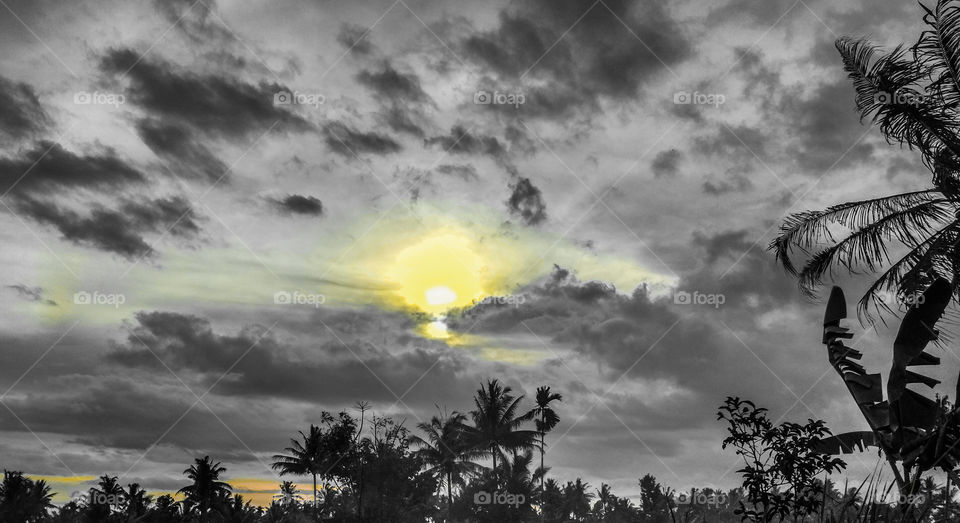 01-12-2018 the panoramic atmosphere in the afternoon in the eastern Lombok countryside see