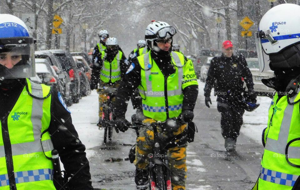 Montreal bicycle police