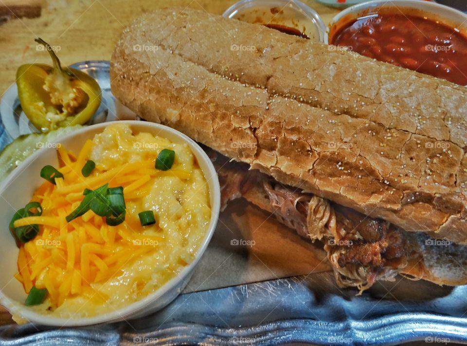 Pulled Pork Texas BBQ Sandwich