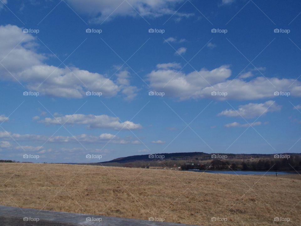 Cloud Field   sweden, field, grass, clouds