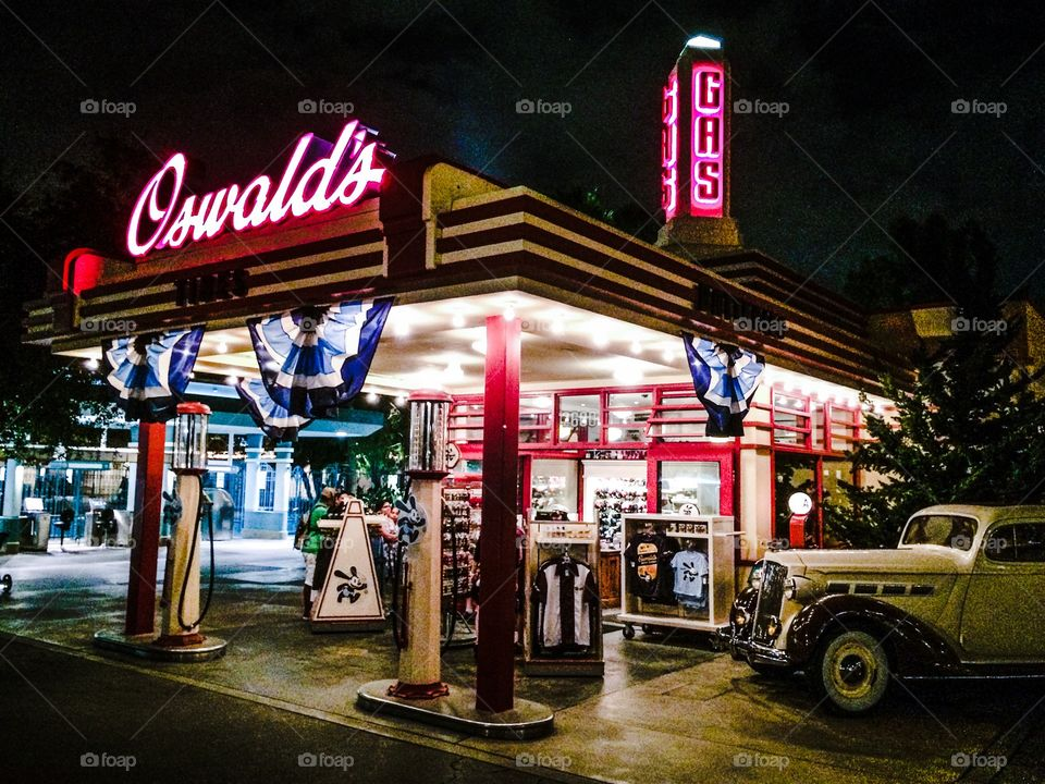 Oswald's Gas Station at Disney's California Adventure.