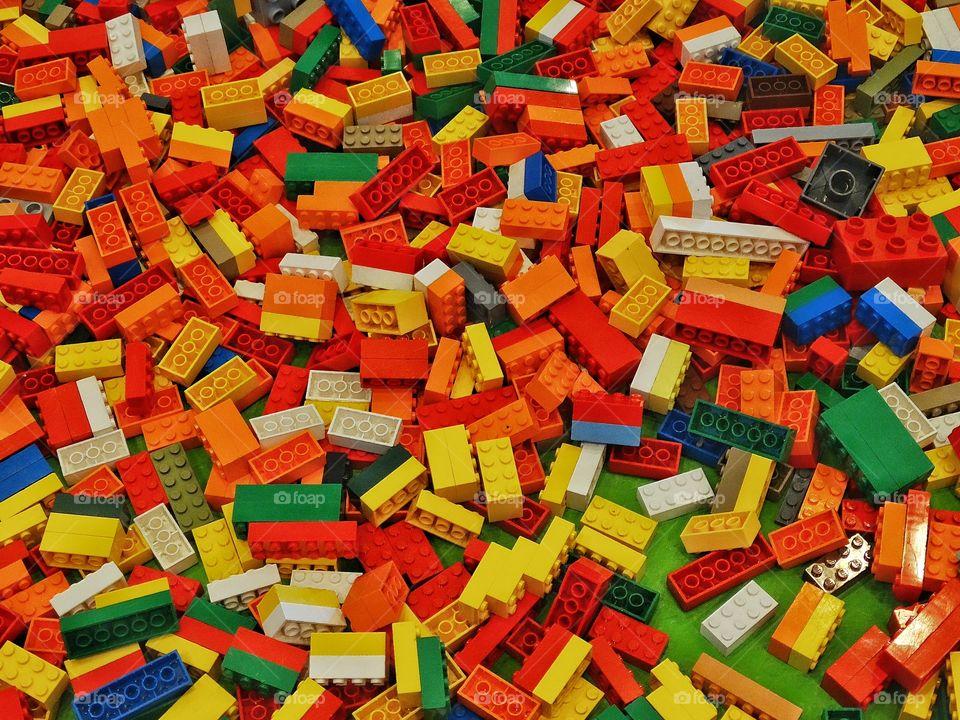 Colorful Pile Of Legos. Giant Pile Of Colorful Lego Bricks