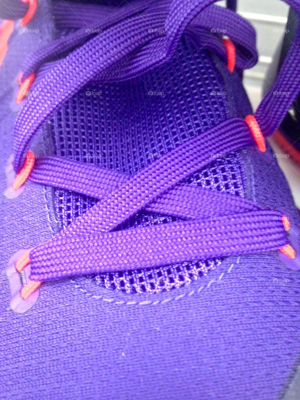 Purple Basketball Shoes  Published by: HappyBrownMonkey
