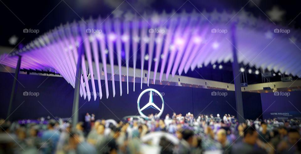 Mercedes Benz motor show exhibition