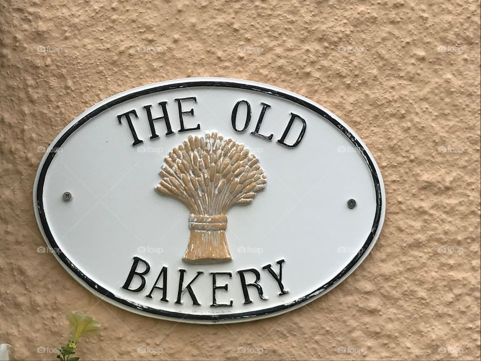 The Old Bakery Sign