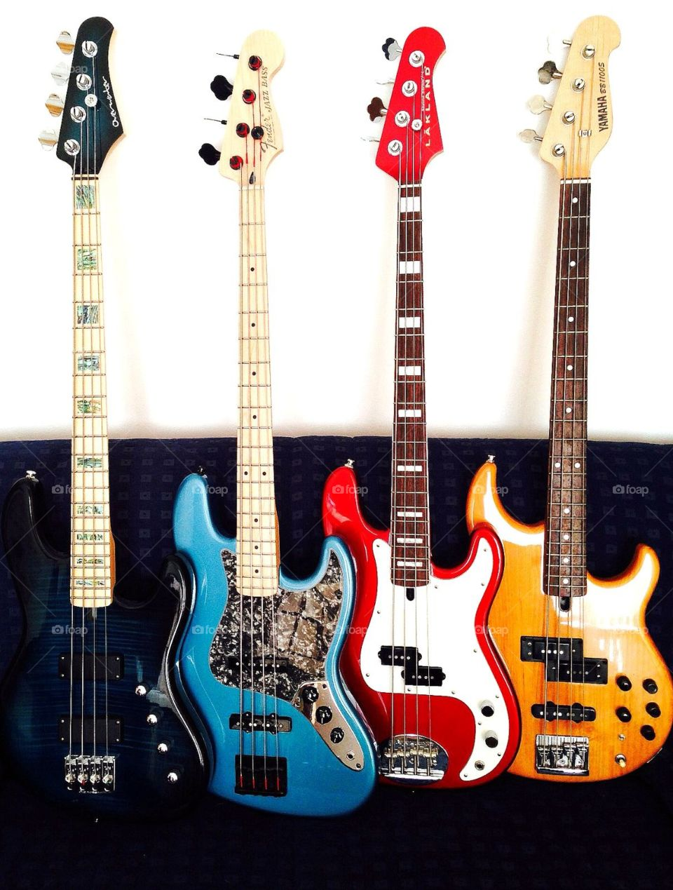 My Bass Family. 4 top basses in a row