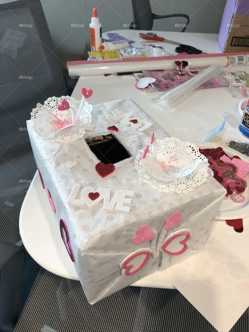Making Valentine's boxes