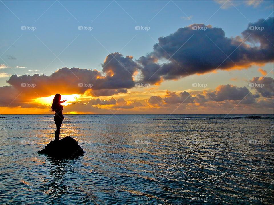 Sunset inHawaii