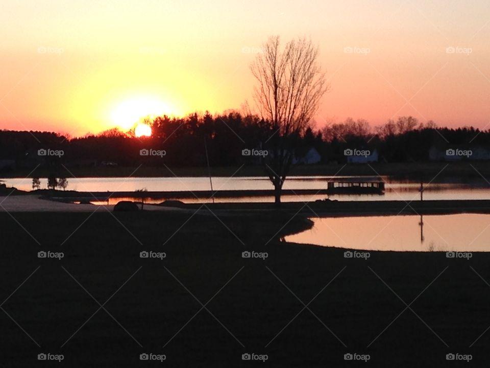 Sunset Lake Sky